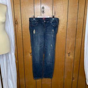 Torrid distressed straight leg jeans
